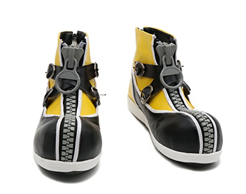 Sora Shoes Kingdom Cosplay Heart Stylish Zipper PU Halloween Costume Boots -