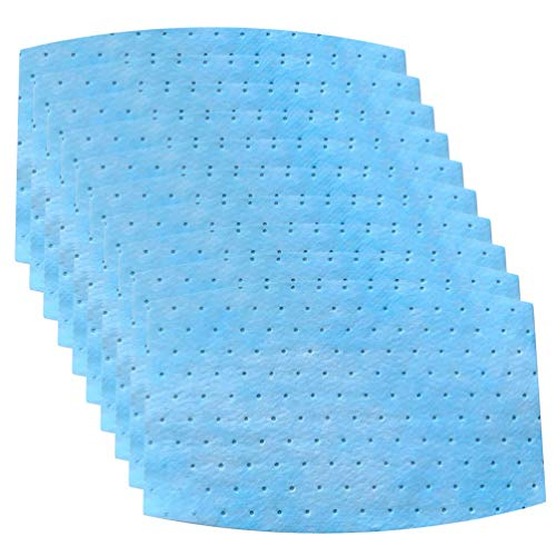 HEALLILY 10pcs Mask Filters 3 Layers Non-woven Fabric Filters Insert Mask Filter Pads