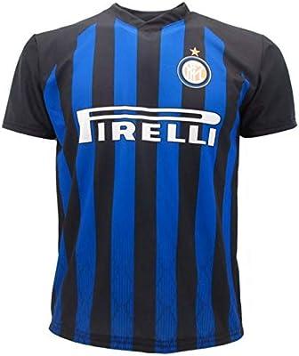 Camiseta de Fútbol Mauro ICARDI Maurito 9 Inter FC Primera Camiseta Azul Negra Temporada 2018-2019 Replica Oficial con Licencia - Todos Los Tamaños ...