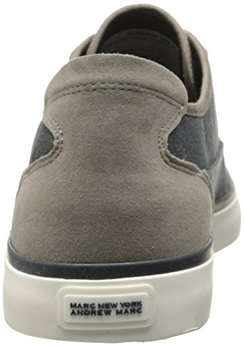 Andrew Marc Mens Bergen Fashion Sneaker Navy / Gray / White Text