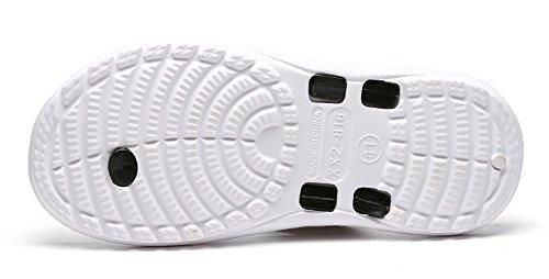 Suave para Verano Hombre Aire Cómodas Chancletas Yooeen Vistoso Zapatos Negro y Antideslizantes Playa de Chanclas Mujer de Unisex Chanclas Playa Suela b Piscina Libre SqwUUExX1