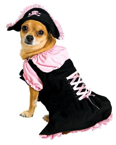 Rubies Costume Pink Pirate Pet Costume, Small, My Pet Supplies