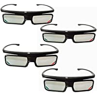 3D Active Glasses for SONY TV Models Replace to X940C, X930C, X910C, W850C, W800C, TDG-BT500A, TDG-BT500A TDGBT500A TDG-BT400A TDGBT400A by New TV (4PCS)