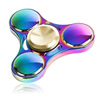 ATESSON New Version Fidget Spinner Toy Durable Stainless Steel Bearing High Speed 3-5 Min Spins Tri-spinner Precision Colorful Metal Hand Spinners Toy with 1 Screwdriver & 1 Extra Bearing