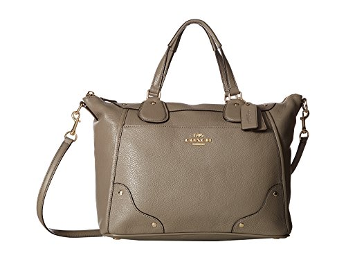 COACH Women's Grain Leather Mickie Satchel Im/Fog One Size