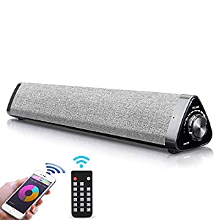 Bluetooth Sound Bar - Fityou Computer Speaker 2.0 Channel Sound Bar Wired Wireless Mini Sound Bar Built-in Mic, USB Computer Speakers with Remote Control for TV/PC/Cellphone/Tablet/Desktop/Laptop