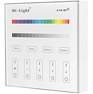 Light T3 Wireless 2.4G RF 4-Zone RGBW Wall-Mounted Smart