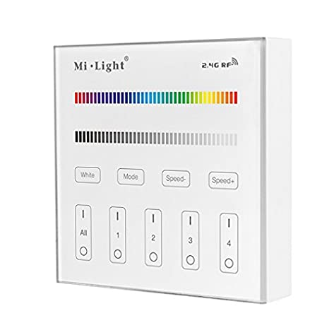 Mi.Light 6W A19 Led Bulb Dimmable RGBW Cool White Color Changing Must Work With 2.4G Wireless Remote(Not Included) Or Smartphone APP Controlled Via Milight Hub Wifi iBox(Not Included)