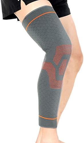 Xtian New Style 3D Knieschutz, Kniebandage, Beinwärmer, Sport-Sicherheit, Oberschenkel-Bandage, Beinschutz, L/XL, 1 Stück