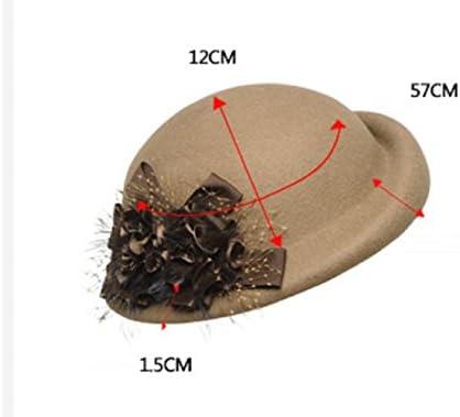 VIOY Otoño e Invierno Flores Boinas Inglaterra Sombreros Sombreros Elegantes 56800efcca37
