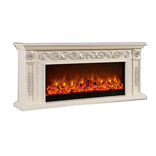 Cheap Electric fireplace - living room electronic decorative cabinet electric fireplace TV cabinet mantel size: length 1800 high 800 ivory white + solid wood ( Color : White Size : Heating core ) Black Friday & Cyber Monday 2019
