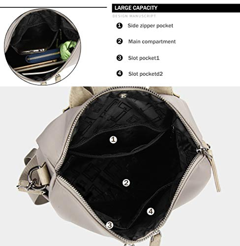 Purse Satchel Backpack Ladies Casual Bag FIGROL Leather PU Travel �� Shoulder for Bag 7016 School Backpack grey Women Girls YOxzCE