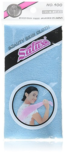 Salux Nylon Japanese Beauty Skin Bath Wash Cloth/towel (3) Blue by SALUX