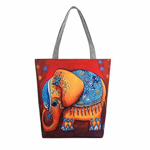 à Toile Sac à 37×8×27CM épaule Taille d'éléphant à Sacs Femme D en Motif BZLine® Main fw5qg0CWX