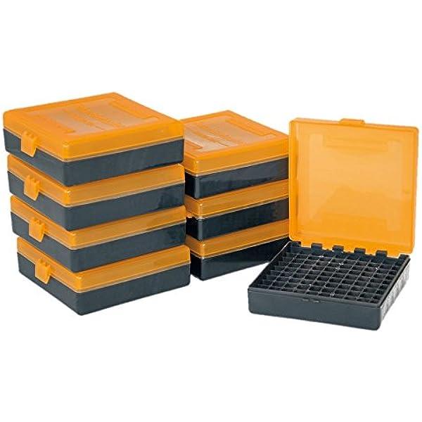 Smart Reloader SMARTRELOADER Caja de Municion #1a, 100 municiones en Calibre 9x19.380ACP - Pack Ahorro de 8 Cajas: Amazon.es: Deportes y aire libre