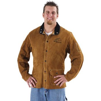 BLACK STALLION Quality Side Split Cowhide Welding Coat - ...