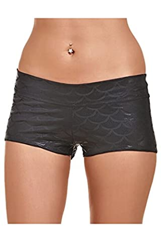 LOV ANNY Women's Summer Fish Scale Printed Running Yoga Plus Size Shorts XXXL - Usps Digital Scale