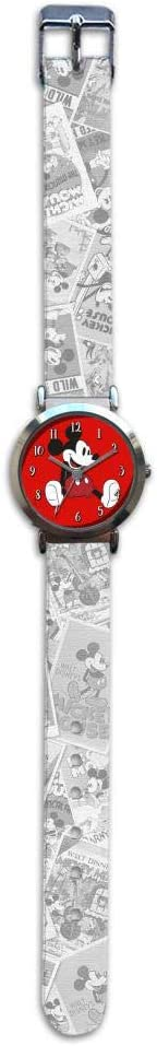 Mickey Mouse Reloj de Pulsera Aloy Correa Nylon de Mickey Classic (WD20177), Multicolor (Kids Licensing 1)