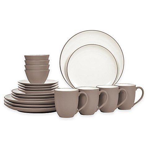 Noritake Coupe (Noritake Colorwave 20-Piece Coupe Dinnerware Set, Clay)