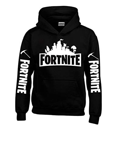 TheTshack Fortnite Hero Hoodie Fortnite Gamer (X-Large 14/16 yrs, Black)