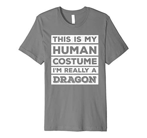 Dragon Fire Breathing T-shirt (Human Costume Dragon Fire Breathing Beast Wings T-Shirt)