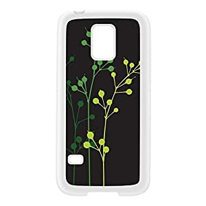 Flowerbuds Grey White Silicon Rubber Case for Galaxy S5 Mini by Gadget Glamour + FREE Crystal Clear Screen Protector
