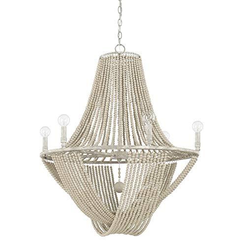 Light Chandelier Capital Lighting - Capital Lighting 429561MS Kayla - Six Light Chandelier, Mystic Sand Finish