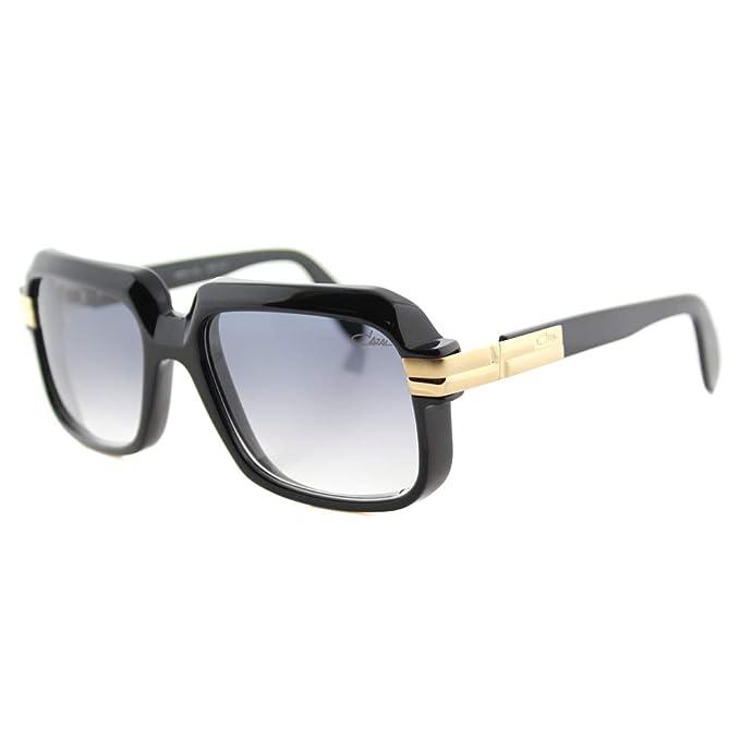 Amazon.com: Cazal 607 cuadrado anteojos de sol, negro, 56 mm ...