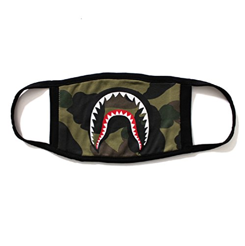 1b43bc7d51f8 Camping First Aid Kits Bape Face Mask Shark Mouth Mouth-muffle (Darkgreen)  - Buy Online in UAE.