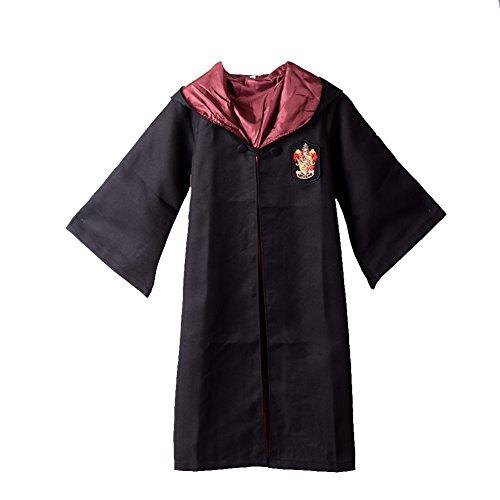 [BLZ 1pc Magic School Child Cloak Robe Black and Red XL] (Hogwarts Robes Gryffindor)