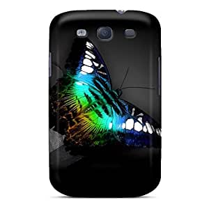 Samsung Galaxy S3 FaJ14733AIdC Allow Personal Design HD Butterfly Image Shock Absorption Hard Cell-phone Case -JasonPelletier hjbrhga1544