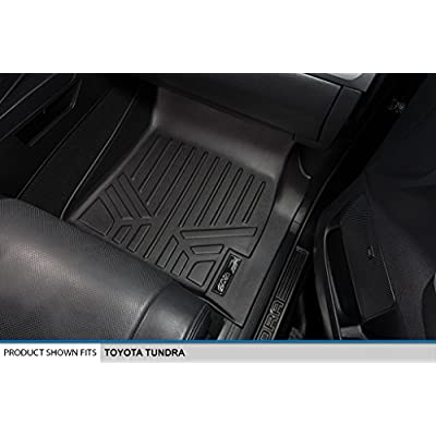 MAXLINER Floor Mats 2 Row Liner Set Black for 2014-2020 Toyota Tundra Double Cab or CrewMax Cab: Automotive