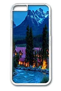 iPhone 6 Case and Cover -Mountain resort PC Hard Plastic Case for iphone 6 4.7 inch Transparent