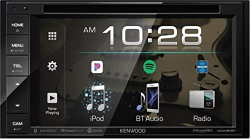 Kenwood DDX26BT 6.2'' WVGA DVD Receiver, Bluetooth, Rear USB, Pandora/Spotify/iHeart Radio Link for iPhone and Android Phones, SiriusXM Ready, Rear Camera Input