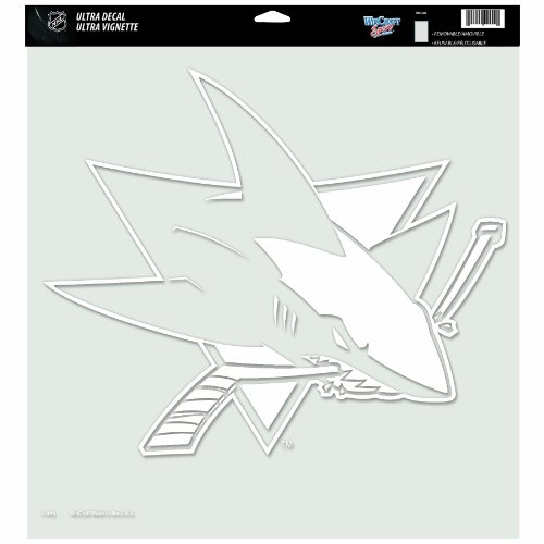 (NHL San Jose Sharks 18-by-18 inch Diecut Decal)