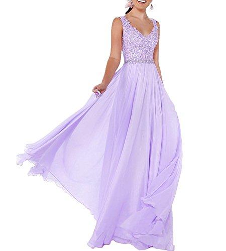 Partykleider La linie Neu Hell A ausschnitt Rock Lang Elegant Abschlussballkleider Abendkleider V Gruen Lilac Braut mia zU7wzr