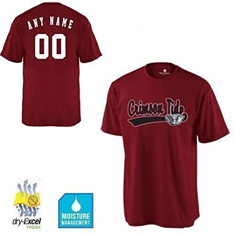 a1f47bc6b8b Amazon.com   CUSTOM Alabama Crimson Tide NCAA Officially Licensed Cool-Base  Replica Jersey Shirts (3 Styles