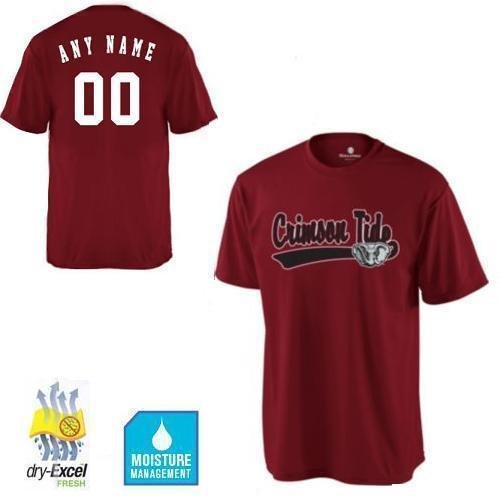 43f5e03f2 Amazon.com   CUSTOM Alabama Crimson Tide NCAA Officially Licensed Cool-Base  Replica Jersey Shirts (3 Styles