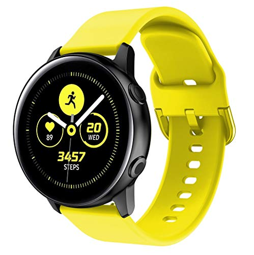 Price comparison product image ShaoshaoWatch Band-For Samsung Galaxy, Replacement Soft Silicone Sports Wristband Band Strap Bracelet Wristband (Yellow)