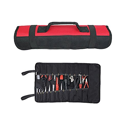 Tool Roll Pouch/Bag/Carrier 32 Pockets Wrench Bag Roll Up Professional Electricians Organizer by Jungle Dream