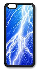 iphone 6 plus Case,Lightning Bolt6 TPU Rubber Soft Case Back Cover for iphone 6 plus 5.5 inch Black