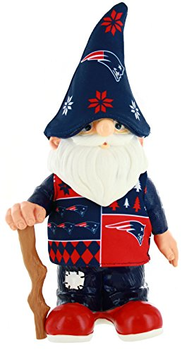 NFL New England Patriots Real Ugly Sweater Gnome - Busy Block, Blue