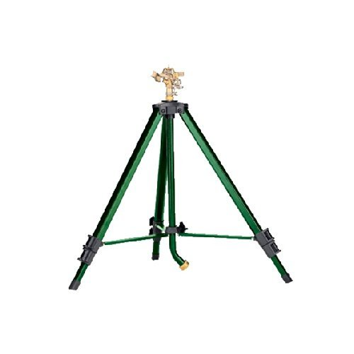 Orbit Heavy Duty Brass Lawn Impact Sprinkler on Tripod Base, Water Yard - 58308D ()