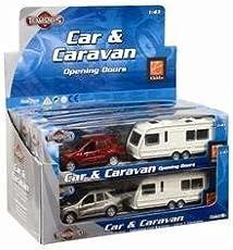 Teamsters Car and caravan set. Scale 1:43 by Teamsterz