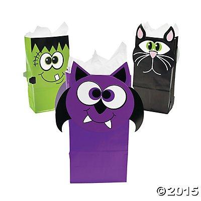 Halloween Character Treat Bags - 12 (Frankenstein Halloween Treats)