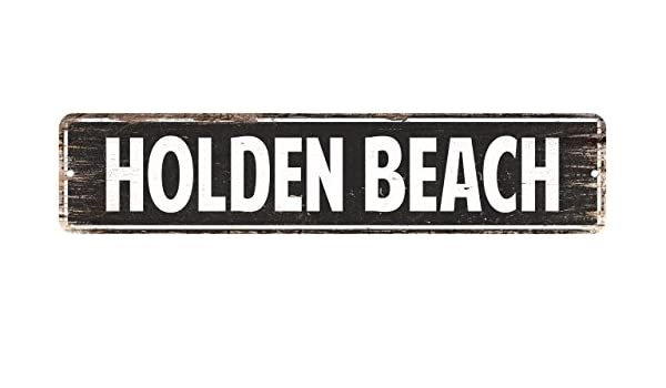 Holden Beach Vintage Look Personalized Metal Sign Chic 4x18 104180008160