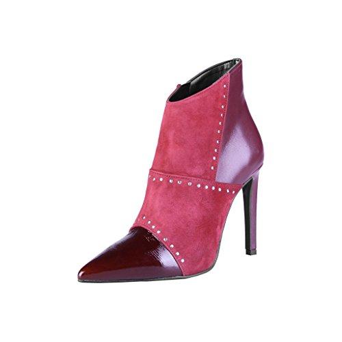 Made In Italia Mujer / Mujer Sergia Botines De Tacón Alto Rojo Oscuro