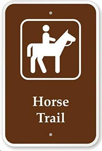 Lilyanaen New Metal Sign Aluminum Sign Horse Trail with Symbol Decorative Yard Signs for Outdoor & Indoor 8