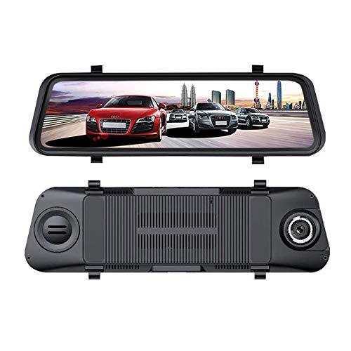 ZUZU Car Sprint Camera Rear View Mirror with FHD 1080P 4CH Camera Lens HD Driving Recorder Recorder Car Dash DVR Car Driving Recorder ()