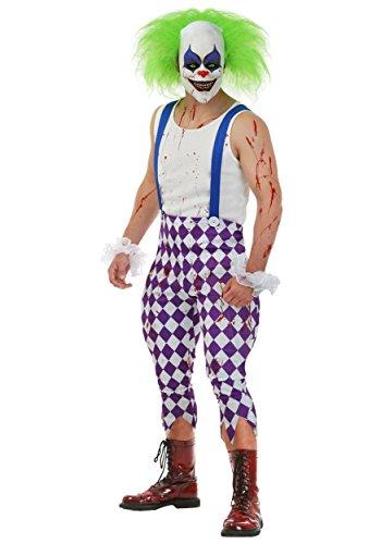 Tetris Green Costumes (Men's Nightmare Clown Costume Large)